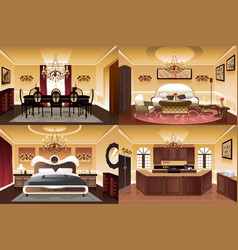 rooms inside the house vector image
