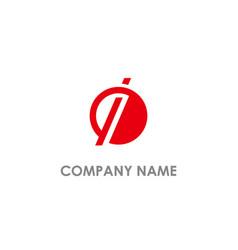 round i initial company logo vector image
