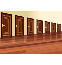 Row of doors vector
