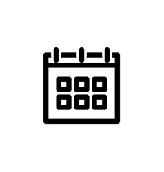 schedule icon with outline style icon set vector image