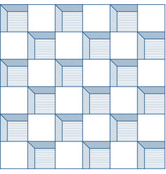 seamless cube pattern abstract futuristic vector image