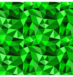 Seamless green abstract geometric rumpled pattern vector image