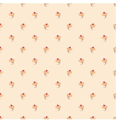 Seamless pattern or texture with little cupcakes vector image