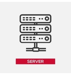 Server single icon vector