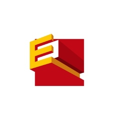 Sign the letter E vector image