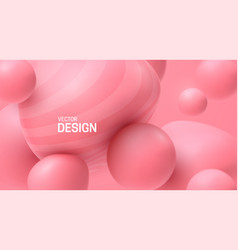 soft pink spheres bubble gum smooth shapes vector image