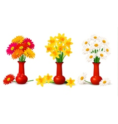 Spring colorful flowers vector image