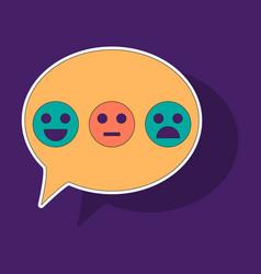 Sticker emoticon set icons emoji symbols isolated vector