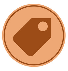 Token bronze coin vector
