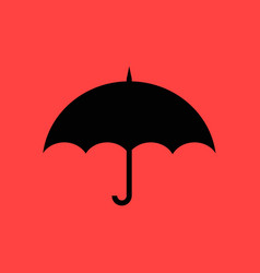 umbrella flat design vector image
