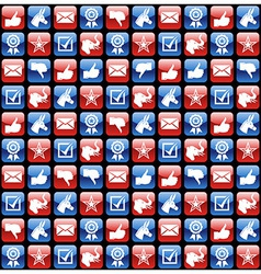 USA elections glossy internet icons pattern vector