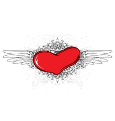 valentine heart emblem vector image