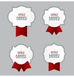 Vintage Label with Ribbon vector