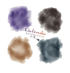 watercolor soft circle texture watercoluor vector image