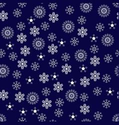 white snowflakes seamless pattern on black vector image