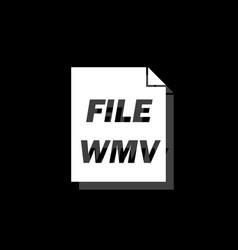 wmv icon flat vector image