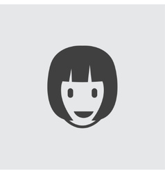 Woman hairstyle icon vector image