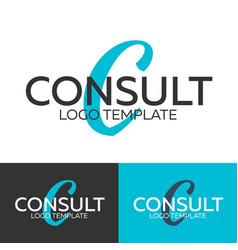 Consult logo letter c logo logo template vector