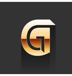 Gold Letter G Shape Logo Element vector image vector image
