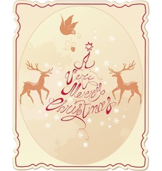 Holiday card with hand written text vector image
