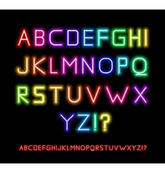 Neon Font vector image vector image