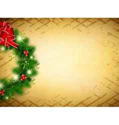 Vintage Christmas and New Year vector image