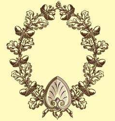 vintage floral laurel vector image