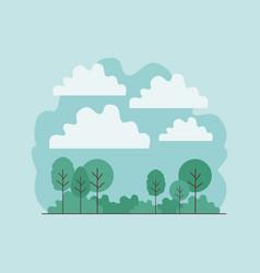 forest landscape scene icon vector image