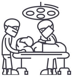 hospital room with doctorssurgery operation vector image