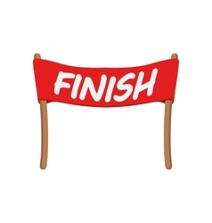 Red ribbon in finishing line vector image vector image
