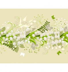 seamless horizontal floral pastel pattern vector image vector image