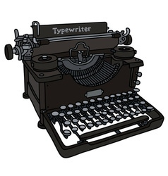Vintage black typewriter vector image