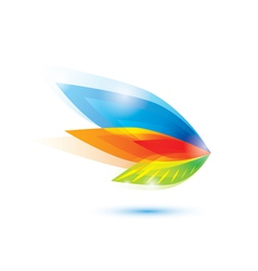 abstract feather leaf symbol vector image vector image