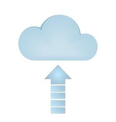 Cloud Upload vector image vector image