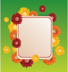 flower frame illustration vector image