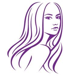girl fashion hair vector image vector image