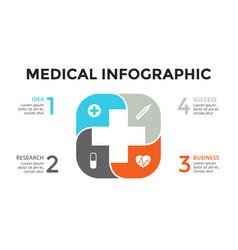 plus infographic medical diagram vector image