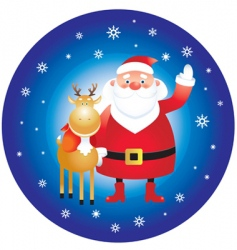 Santa Claus and reindeer vector image vector image