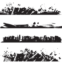 Set of ink black blots and splashes vector image vector image