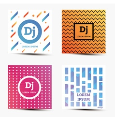 Set of music backgrounds with modern geometric vector