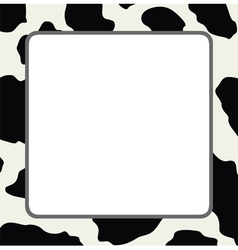 abstract cow skin texture vector image