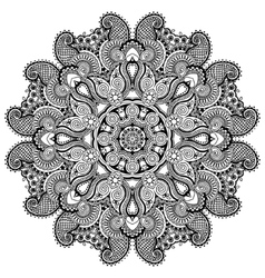 Circle lace ornament round ornamental geometric vector image vector image