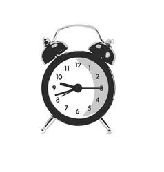clock on isolated white vector image