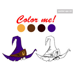 color book hat vector image