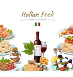 Italian cuisine food background vector