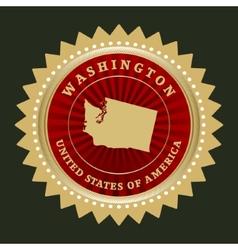 Star label Washington vector image