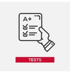 Tests - single icon vector