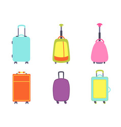 a set of modern suitcases vector image