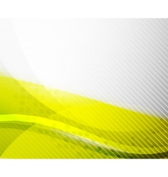Abstract Background - Yellow shiny blurred wave vector