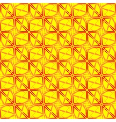 Abstract geometric seamless pattern in yellow vector image